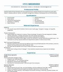 Exercise Science Resumes Health Fitness Specialist Resume Sample Livecareer