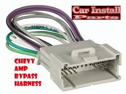 amp bypass wire harnesses chevy radio w amp bypass wire harness stereo 2000 2001
