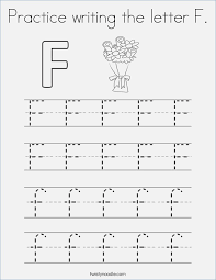 Letter F Tracing Worksheets for Preschool – careless.me