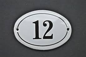 image is loading antique style small oval number 12 door number