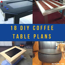 A chunky farmhouse diy coffee table with a space underneath for storage baskets to keep your living room clean and tidy. 18 Surprising Diy Coffee Table Plans Free List Mymydiy Inspiring Diy Projects