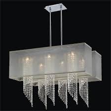 double rectangular shade chandelier spiral crystal chandelier ocean wave 617em33 23sp t 7c