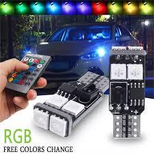 Litao Một Cặp Đèn LED Nhiều Màu T10 W5W 5050 6SMD RGB Cho Xe Hơi Bóng Đèn  Nêm Xe Ô Tô Phụ Kiện Xe Máy Điều Khiển Từ Xa