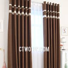 elite brown blackout modern and best linen curtains with gold lace