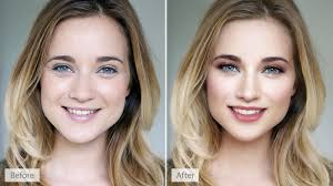 before and after retouched image