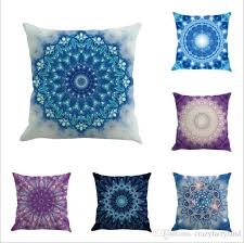 bohemia pillowcase mandala indian cushion cover geometric linen 70 styles chair seat car sofa decorative square 45 45cm pillowcase pillow covers