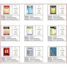 Free Restaurant Menu Maker Software Menu Design Templates Word