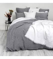 wallace cotton chambray linen duvet set super king