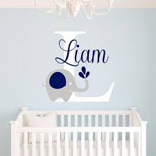 elephant wall decals for nursery custome baby name decal elephant wall sticker baby room art decor