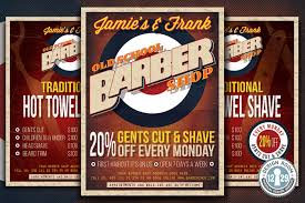 barber flyer barber shop flyer on behance