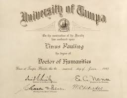 University Of Tampa Diploma Doctor Of Humanities June 2 1949