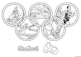 Coloriage Jeux Olympiques Rio 2016 Anneaux Olympiques Dessin