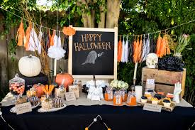 pretty home party decorations comes with blackboard greeting and white orange colors pumpkins