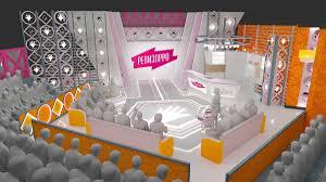 Tv Talk Show Stage Design Set Design For Tv Project On Behance