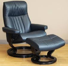 blue leather chair. Stressless Crown Cori Blue Leather Recliner Chair By Ekornes H