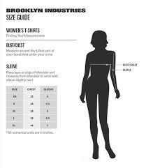Womens Size Charts Brooklyn Industries