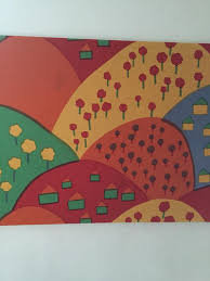 marimekko wall hanging large canvas