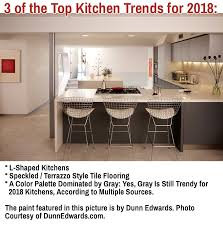 this photo gives you a glimpse at 3 of the top 2018 kitchen trends an