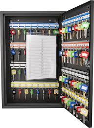 64 Key Storage Cabinet Safe Wall Mount Lock Box Hook Organizer Holder  Security #Barska