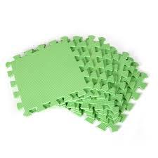 details of new 9pcs eva foam floor mat exercise gym kids playground interlocking soft tiles