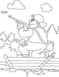 Small Picture A hunter hunting in the boat coloring page Download Free A
