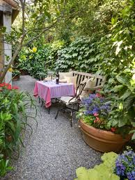 Small Picture Pea Gravel Landscape Design a small intimate dining area thats