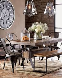 industrial dining furniture. Warm Industrial Dining Room - Table \u0026 Chairs Lighting Industrial Furniture D