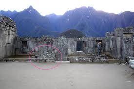 machu picchu the temple of the 3 windows with the inka cross inkadesign