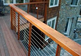 lowe s deck railing ideas railing ultra tec cable railing