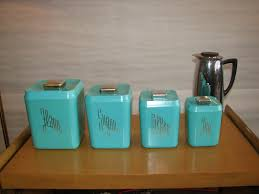 Retro Kitchen Canisters Vintage Kitchen Canister Sets