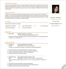 resume with picture sample