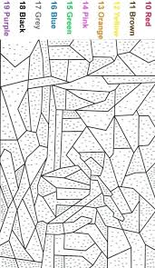 Free Printable Color Number Coloring Pages Color By Number Coloring