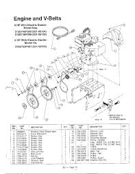 Mtd snow thrower engine and v belts parts