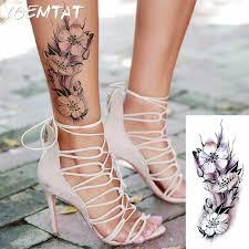 флэш тату хной поддельные временные татуировки наклейки романтическая роза