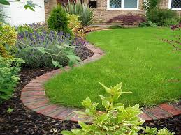 garden edging stone. Garden Edging Tips With Plant In Bricks To Limit The Growth Of Grass Area Stone
