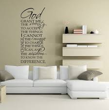 serenity prayer wall decal vinyl typography god grant me the serenity on large serenity prayer wall art with 7