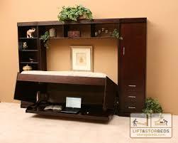 hidden desk furniture. Hidden Bed Dark Wood Desk Furniture