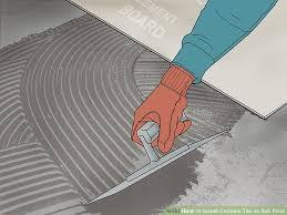 image titled install ceramic tile on sub floor step 4
