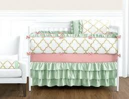 pink and white crib bedding gold mint c and white baby bedding girls crib set