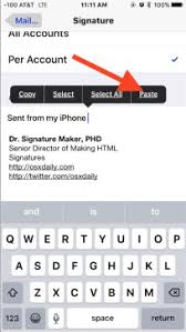 How To Create An Email Signature On Iphone Covve