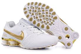 nike shoes white and gold. nike shox deliver mens running shoe white gold shoes and o