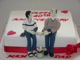 Jackies 40th Wedding Anniversary Cake Casa Costello