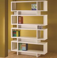 modern bookshelves furniture. affordable chicago furniture store white modern bookcase with four shelves stuffed by many colourful books gentle bookshelves