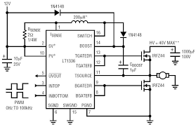 half bridge motor driver circuit collection analog devices FET H-Bridge Circuit half bridge motor driver