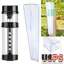 new water rain gauge clear plastic weather garden accurate temperature station