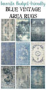 favorite budget friendly blue vintage rugs blesserhouse com i love how all of