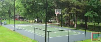 Tennis Court In Backyard  Home DesignBackyard Tennis Court Cost