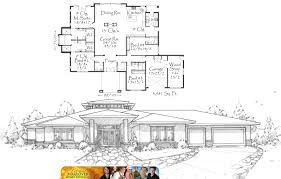 Mark Stewart Home Design Designs First Custom Home for ABC    s    The Plan  M  ExtremeImage of the plan used by the TV Show  Extreme Makeover Home Edition by Mark Stewart