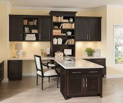 home office cabinetry. Chocolate Cabinets In A Home Office By Kemper Cabinetry