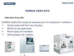 product range presentation 2015 Fermax Video Intercom Wire Diagram video door entry kits fermax M and S Intercom Wiring Diagrams